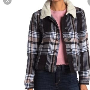 Susina Faux Shearling Plaid Jacket New With Tags